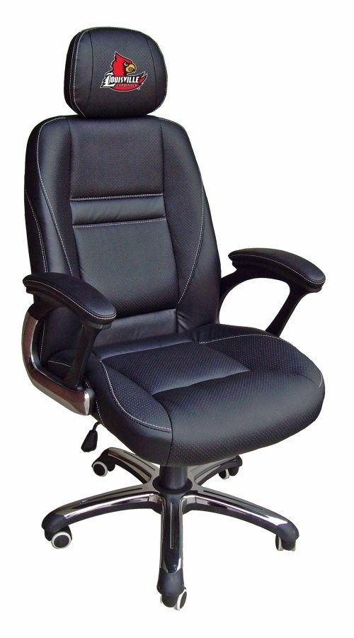 Louisville Cardinals Head Coach Leather Office/Desk Chair