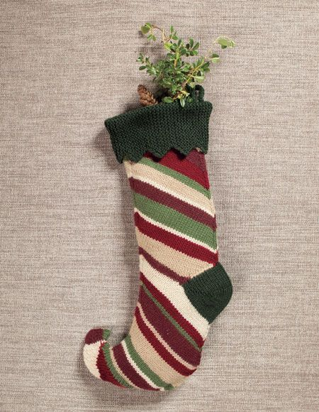 Easy Knitting Patterns For Christmas Stockings