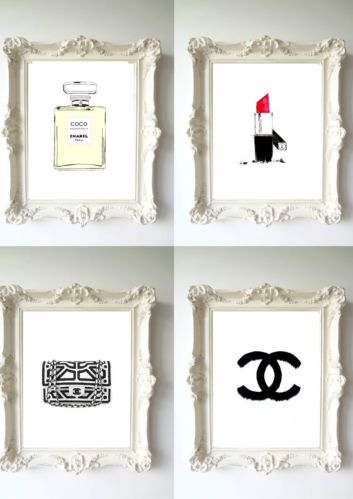 Chanel *5 Gold Vintage Poster wall Art Print Fashion Perfume Classic home decor