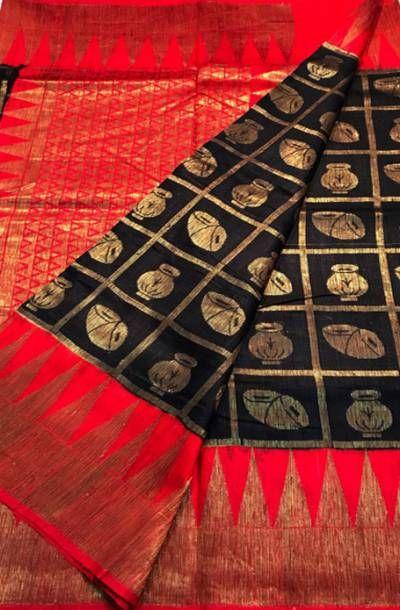 Buy Black Handloom Banarasi Dupion Silk Saree-/LWBSTF99_Black_Handloom_Banarasi_Dupion_Silk_Saree.jpg