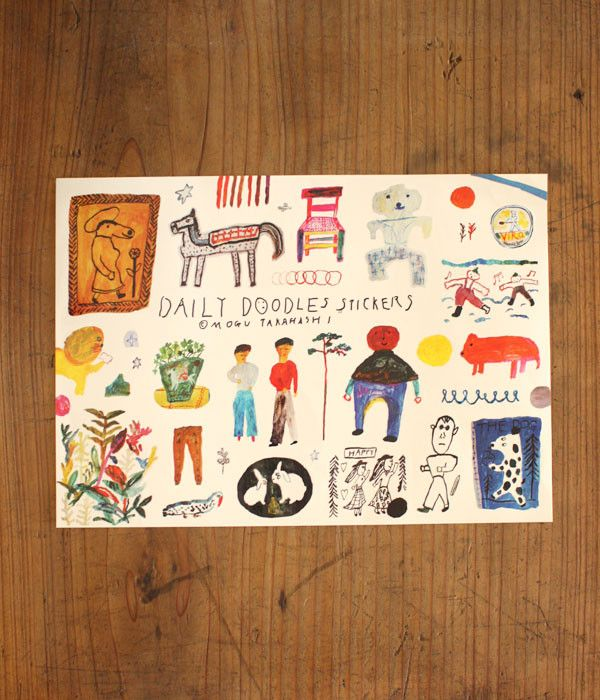 A4 size sticker sheet full of cute illustrations from Daily Doodles by Mogu…