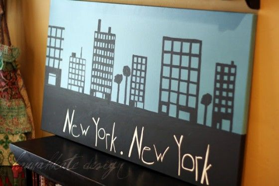 4. New York, New York Art - 10 Awesome NYC-Inspired DIY Projects ... → DIY