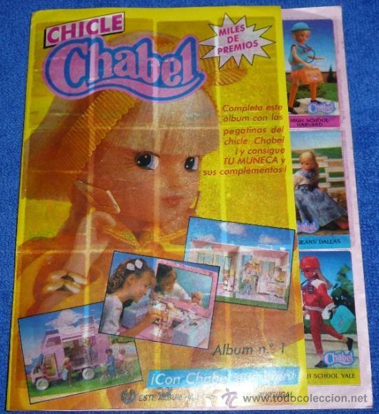 Álbum de chicles de Chabel.