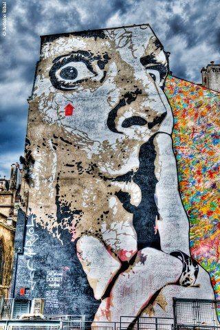 Jef Aerosol - Place Stravinski - Beaubourg - Paris