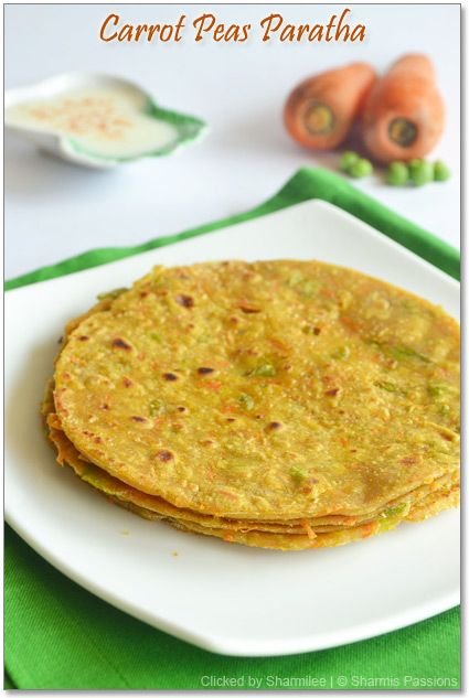 Carrot Peas Paratha - Healthy dinner time