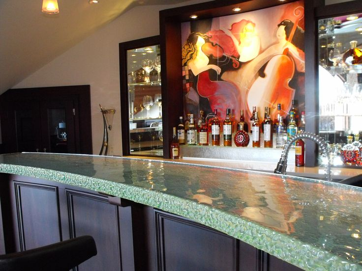 Glass Bar Or Glass Countertop ... Thick Glass With Textured Edge. A Great  Place To Talk And Enjoy Friends. ThinkGlass Can Create Glass With Thickneu2026
