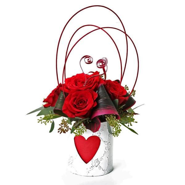 Queen Of Hearts Design Arrangement.