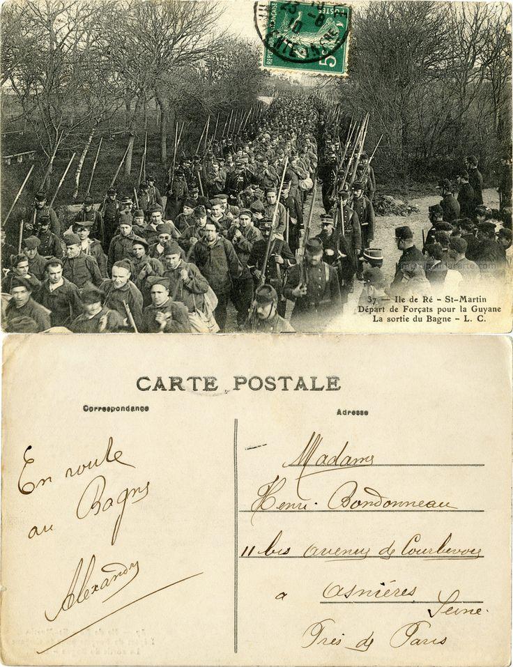 Ile de Ré - St-Martin - Départ de Forçats pour la Guyane - la sortie du Bagne -1910 (from http://mercipourlacarte.com/picture?/468) Éditeur L. C.