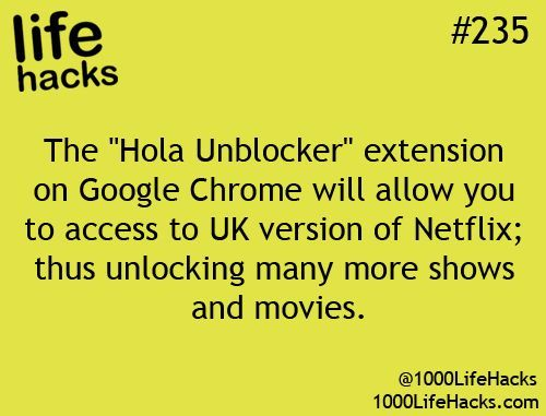 Want to get more out of NetFlix? Try the Hola Unblocker extension to Google Chrome... #235.