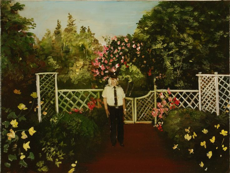 Garden Guard (12 by 16 inches) by Michael Harrington, at Gallery 3 in Ottawa.
