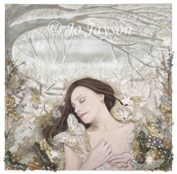 Winter's Sleep - Small Giclee Signed Print by JoJaysonArt for $80.00