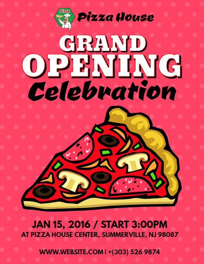 Restauranteatery Grand Opening Event Flyer Poster Social Media Post