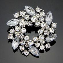 Mode Eenvoudige Broche Pins Crystal Strass Bruiloft Broche Boeket Bloem Merk Sieraden 18 K Vergulde Broches Voor Vrouwen 2016(China (Mainland))