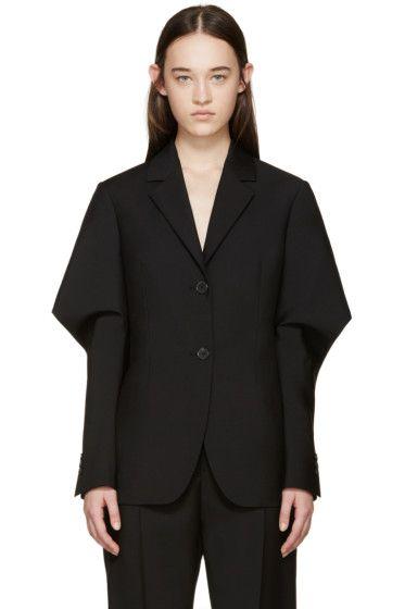 Jil Sander - Black Wool Adorno Blazer