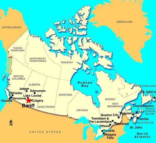 south west canada map where s banff in the rocky mountain range in southwest alberta canada