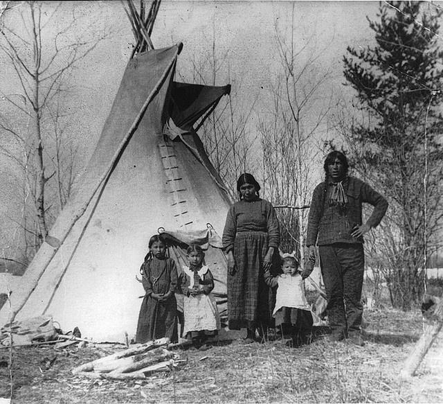 Aboriginal family near Prince Albert, SK, 1919 by Musée McCord Museum, via Flickr