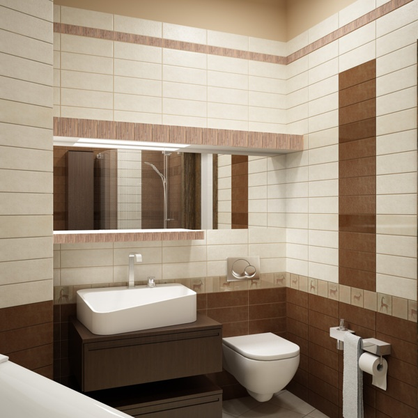 Ванная комната / Ethnic bathroom by Stanislav Torzhkov, via Behance