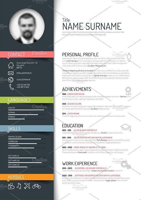 Resume Template Illustrator Adobe Format Zip Createresumetemplate Free Resume Template Word Creative Resume Template Free Cv Template Word