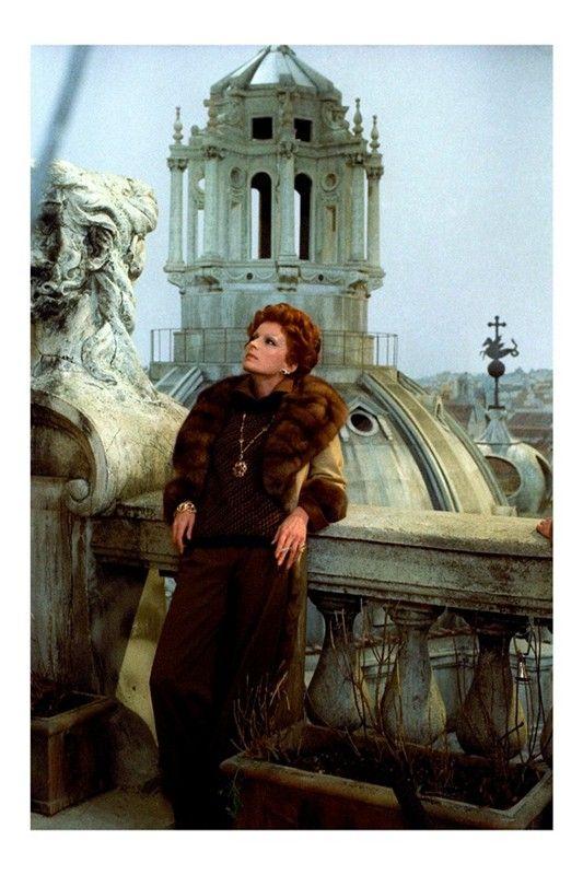 """Silvana Mangano in """"Gruppo di famiglia in un interno"""" (1974). Director: Luchino Visconti."""