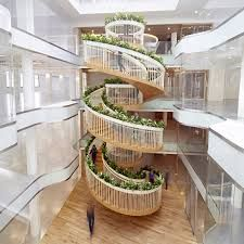 Image result for spiral stair office
