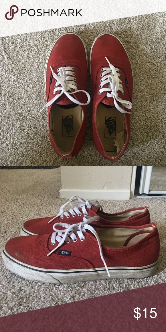 Vans authentic Red Vans authentic! Vans Shoes Sneakers
