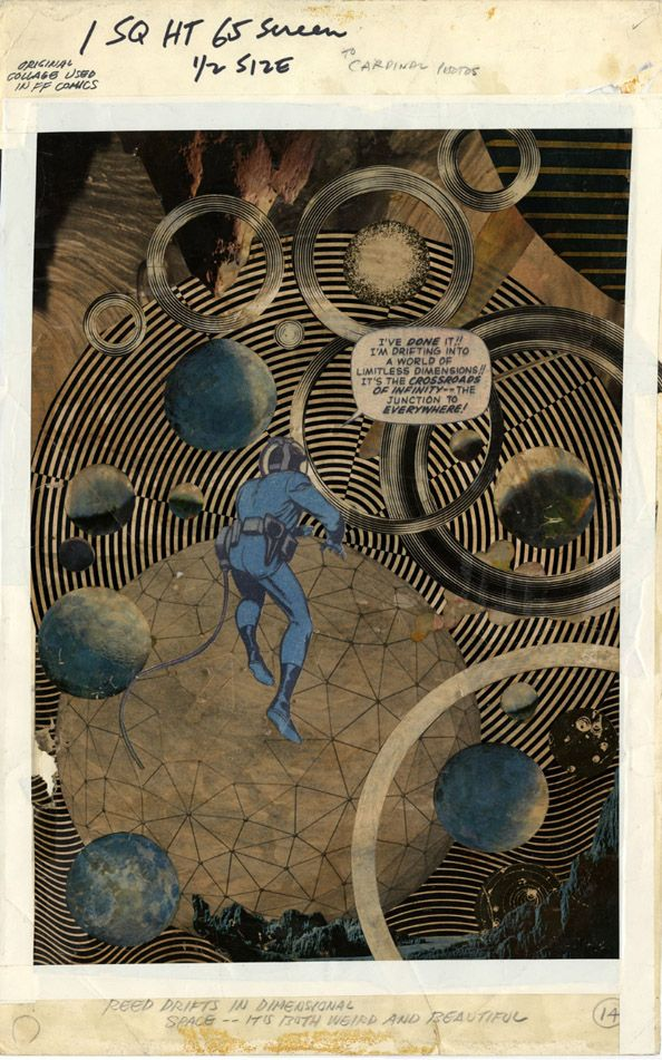 """""""Reed drifts in dimensional space. It's both weird and beautiful"""" - Jack Kirby"""
