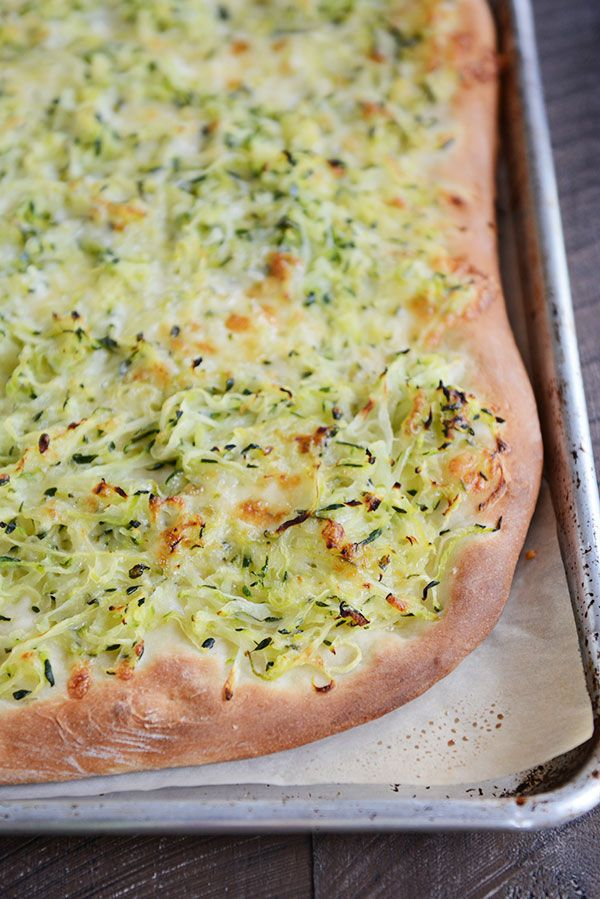 Piled High Zucchini and Cheese Topped Pizza