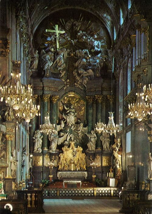 The high altar of the basilica of Our Lady of Częstochowa in Jasna Gora, Poland.
