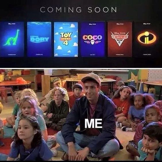 Ok guys, we have the Good Dinosaur and Finding Dory already, we just need the rest. Btw I'm excited for the Incredibles 2