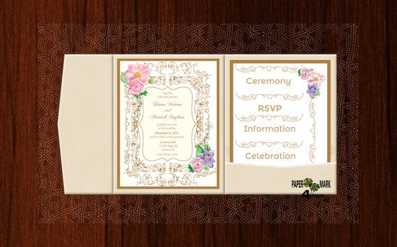 POCKET MODEL_Custom Design&Color_Rustic Wedding by PaperMark4You
