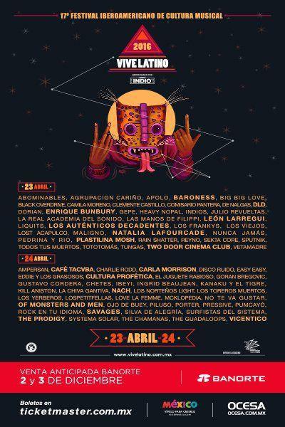 Cartel del Vive Latino 2016 #VL16