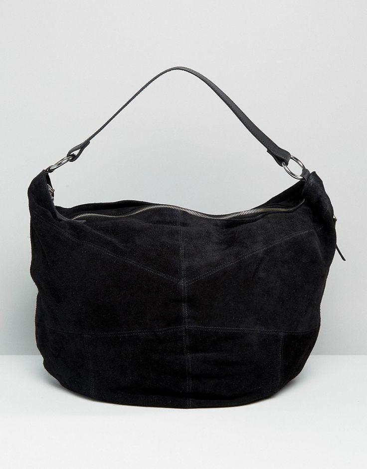 Image 1 ofASOS Oversized Suede Hobo Bag