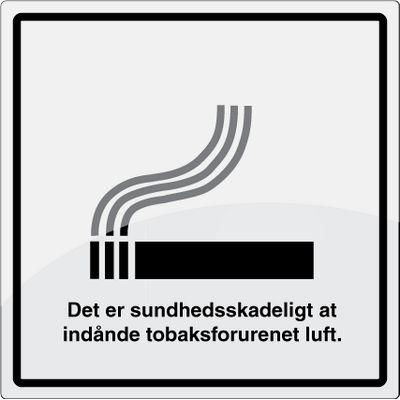 Sundhedsskadeligt piktogram i rustfrit stål - Køb online -