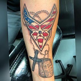 air force tattoo, military tattoo, dog tags tattoo, fredericksburg tattoo, virginia tattoo shop, fredericksburg tattoo shop, custom tattoo, art, artist, female tattoo artist, art teacher, spotyslvania tattoo shop
