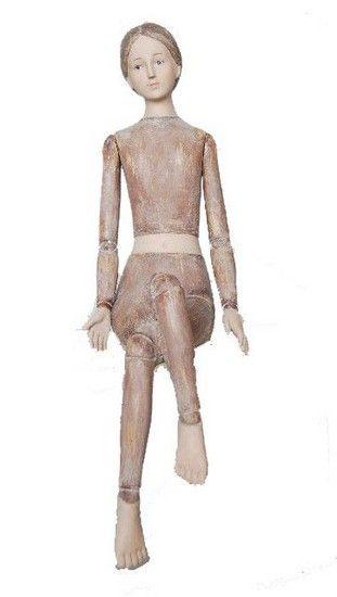 Figura donna statua statuina seduta manichino vintage