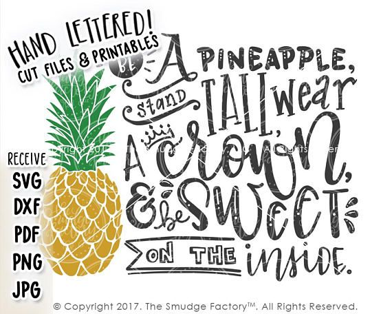 Pineapple Svg Be A Pineapple Stand Tall Wear A Crown