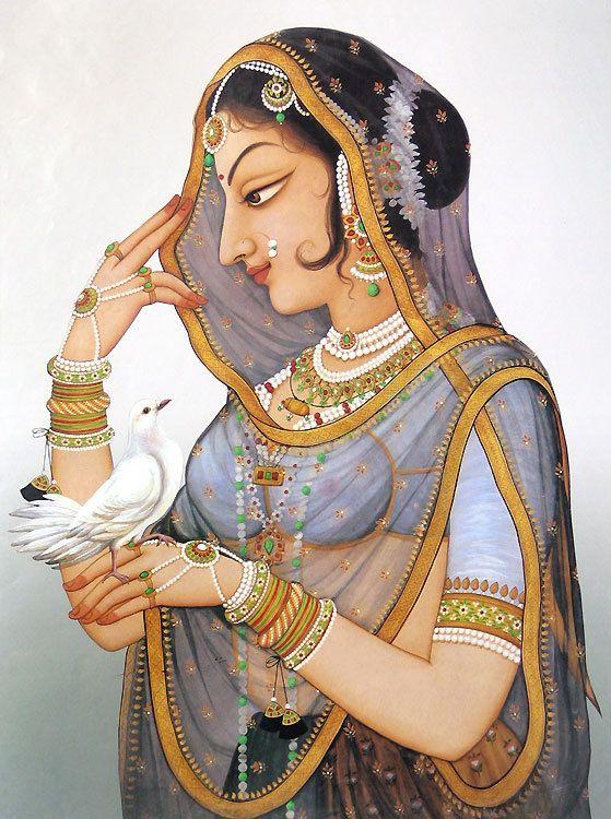 Bani-thani , Kishangah Rajasthani, miniature painting