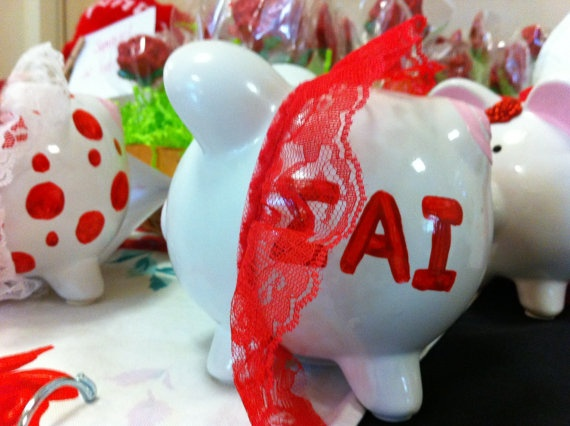 Meet ROSIE!  Adorable Sigma Alpha Iota Piggy Bank Featuring by musicologist, $15.00