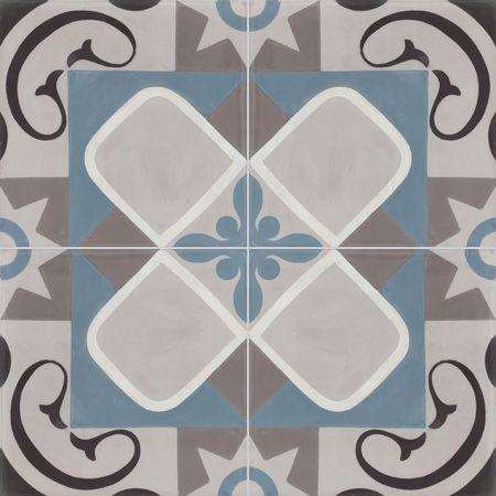 cement tiles - 20x20 patterns - cement tiles SENLIS U01.07.15.10.27 - Couleurs & Matières