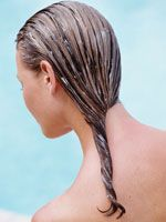 Go bananas for healthy hair. If your hair is starting to show signs of damage from heat styling or color treatments, try this Hawaiian secret for super-shiny tresses: Use a fork to mash one banana in a bowl, then slather the mixture from root to tip. Leave the treatment on for 15 minutes, then wash with shampoo. Bananas help improve the health and natural elasticity of your hair thanks to their high levels of potassium.