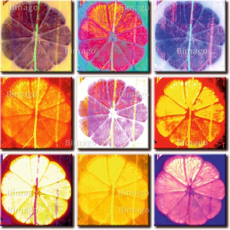 Quadro Limone: nove variazioni sul tema , pop art
