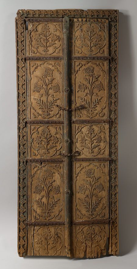 Pair of flower style doors, Mughal, 17th c.