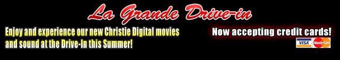 Drive-in movie theater - La Grande