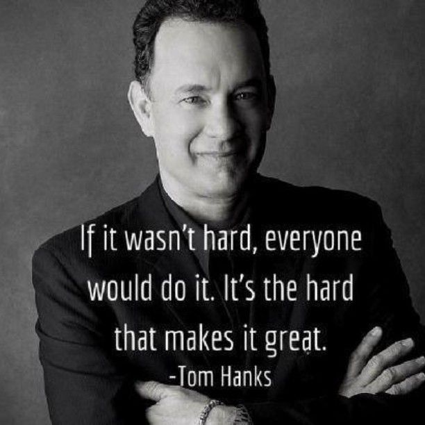 Tom Hanks ~ Yea, but from 'A LEAGUE OF THEIR OWN'
