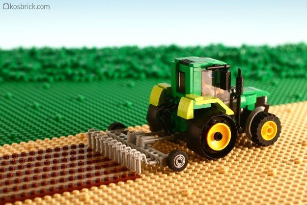 Plowing Tractor http://www.brothers-brick.com/2016/03/15/plowing-tractor/