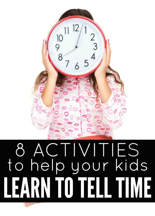 Chart of telling time and clock for kids | Educational ...