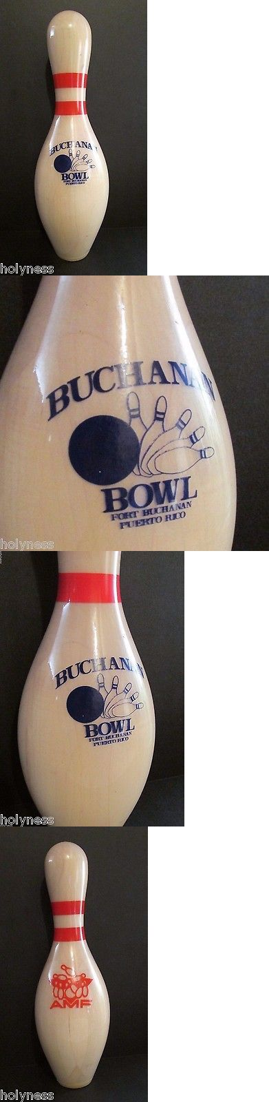 Bowling Pins 50811: Vintage Amf Bowling Pin / Fort Buchanan Us Army Base / San Juan Puerto Rico BUY IT NOW ONLY: $99.95