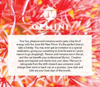 June horoscope 2013 Gemini