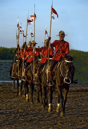 """Ottawa, Canada, members of the """"Musical Ride Mounties"""" ~ truly Canadian"""