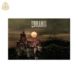 Glasbild Schloss Bran / Glass picture Bran Castle